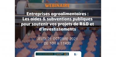 Les Rendez-vous Open Innovation - Les aides & subventions publiques pour soutenir vos projets de R&D et d'investissements